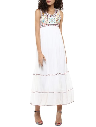 white rayon empire line dress