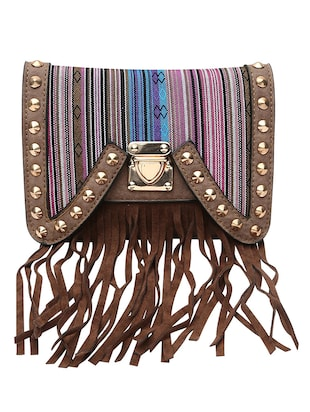 multi colored leatherette  sling bag