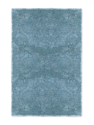 Blue polyester shaggy carpet