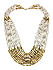 White Crystal Long Necklace - By