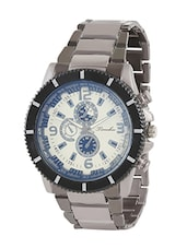 Timebre Men's White & Blue Casual Steel Watch -  online shopping for Chronograph Watches