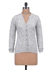 Grey Woolen Buttoned Cardigan - By