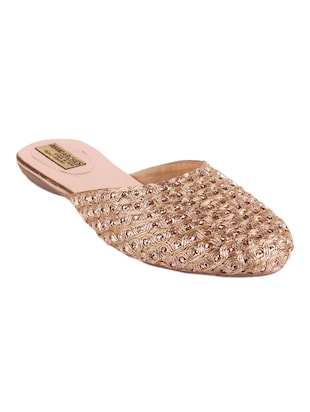 Copper Sequined Slip on jutis