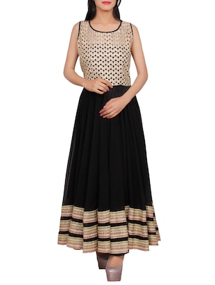 black georgette anarkali kurta