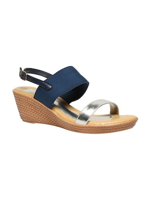 blue tpr back strap wedges -  online shopping for wedges