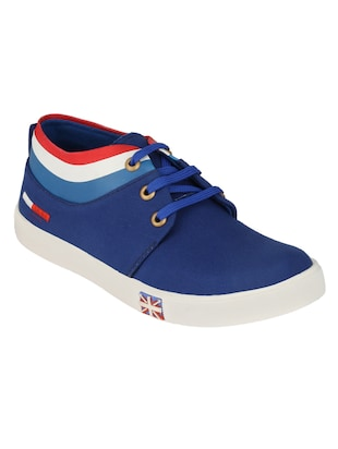 blue Canvas lace up sneaker