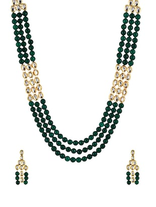 green gold plated set