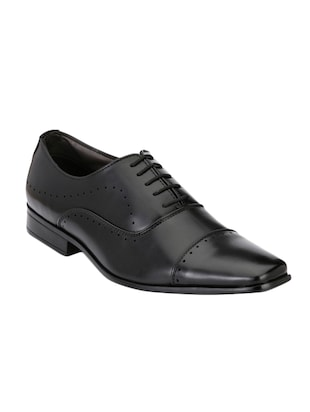 black leatherette lace up oxford