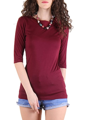 red viscose regular tee