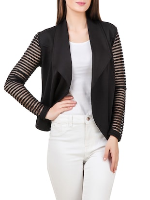 black polyester summer jacket