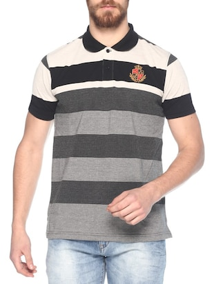grey jersey striped t-shirt