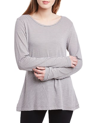 grey cotton a line top