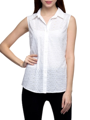 white cotton regular shirt