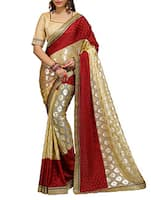 red crepe woven saree -  online shopping for Sarees