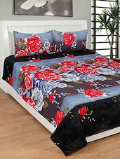 Trendz Home Furnishing PRINTED POLY COTTON DOUBLE BED SHEET WITH 2 PILLOW COVERS -  online shopping for bed sheet sets