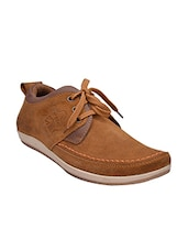 brown Suede lace up shoe -  online shopping for Shoes