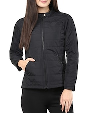 Solid Black Full-sleeved Jacket - By