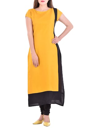 yellow rayon Long kurta