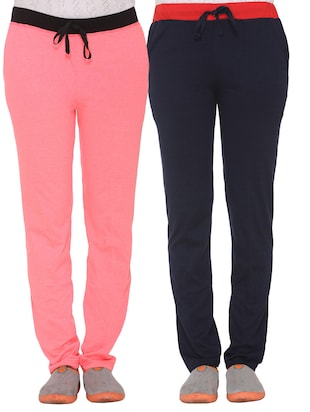 set of 2 multicolored cotton track pants