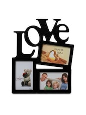 Black Acrylic And Glass Collage Photo Frame For 3 Photos - By