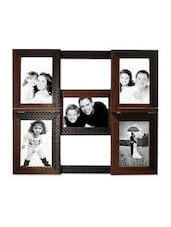 Brown Faux Wood Collage Photo Frame For 5 Photos - By