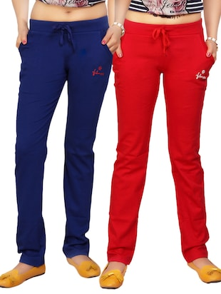 multi cotton track pants