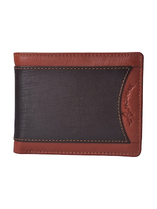 tan and brown leather wallet