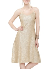 gold sequined dress -  online shopping for Dresses