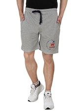 grey cotton shorts -  online shopping for Shorts