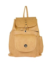 beige leatherette (pu backpack -  online shopping for backpacks