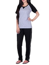 grey cotton nightwear set -  online shopping for nightwear sets