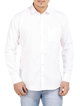 white cotton casual shirt -  online shopping for casual shirts