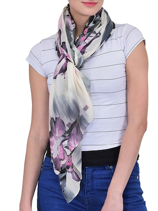 multi polyester scarf