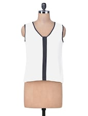 White Regular Fit Top - By