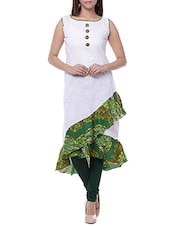 white cotton flared kurta -  online shopping for kurtas
