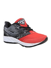 Red, black lace up sport shoe -  online shopping for Sport Shoes
