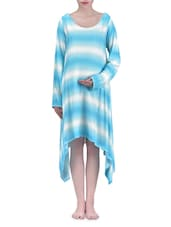 Radiation Safe Blue And White Maternity Dress - By