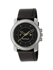 Fastrack 3039SL02 Black Leather Analog Watch -  online shopping for Analog Watches