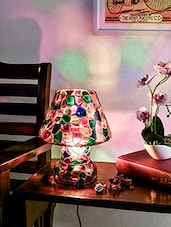 Multicoloured Mosaic Glass Table Lamp - By