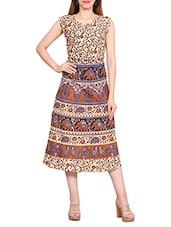 multi cotton aline dress -  online shopping for Dresses