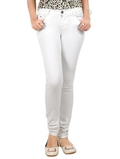white denim slim fit jean -  online shopping for Jeans