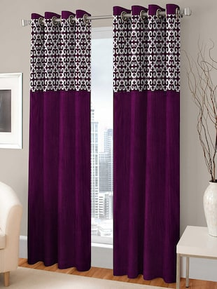 BSB Trendz Flock Patch single Curtain