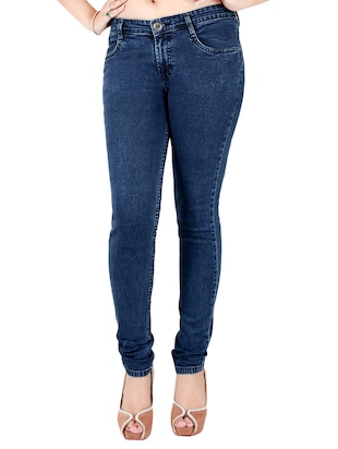 blue denim slim fit jean -  online shopping for Jeans