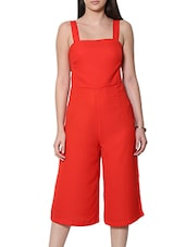 solid orange jumpsuit -  online shopping for Jumpsuits