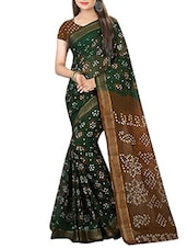 green bandhani saree -  online shopping for Sarees