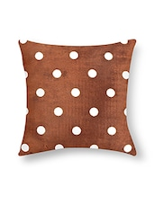 Multicolored Polyester Polka Dotted Cushion Cover - By