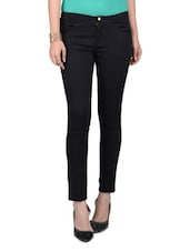 Black Cotton Plain Bottom - By