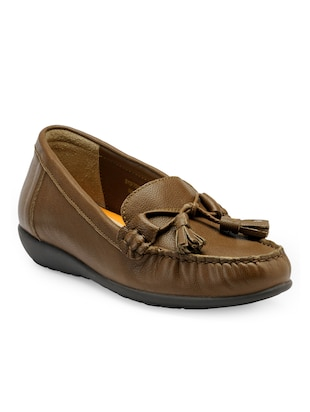 brown slip on mocassins
