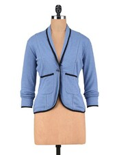 Blue Poly Cotton Jacket - By