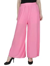 pink plain rayon palazzo -  online shopping for Palazzos